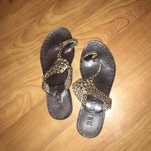 Report Shoes - Report Braided Gold Sandals